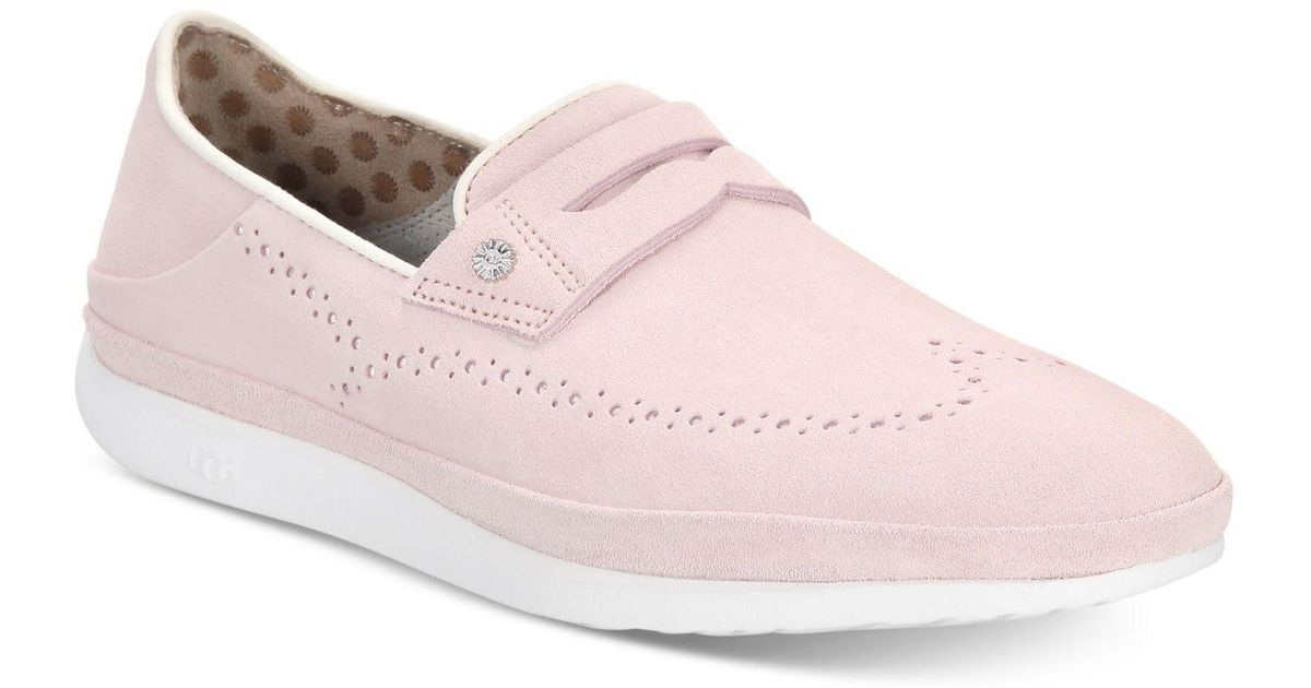 ff389629072 Ugg - Pink Cali Suede Penny Slip-on Drivers - Lyst