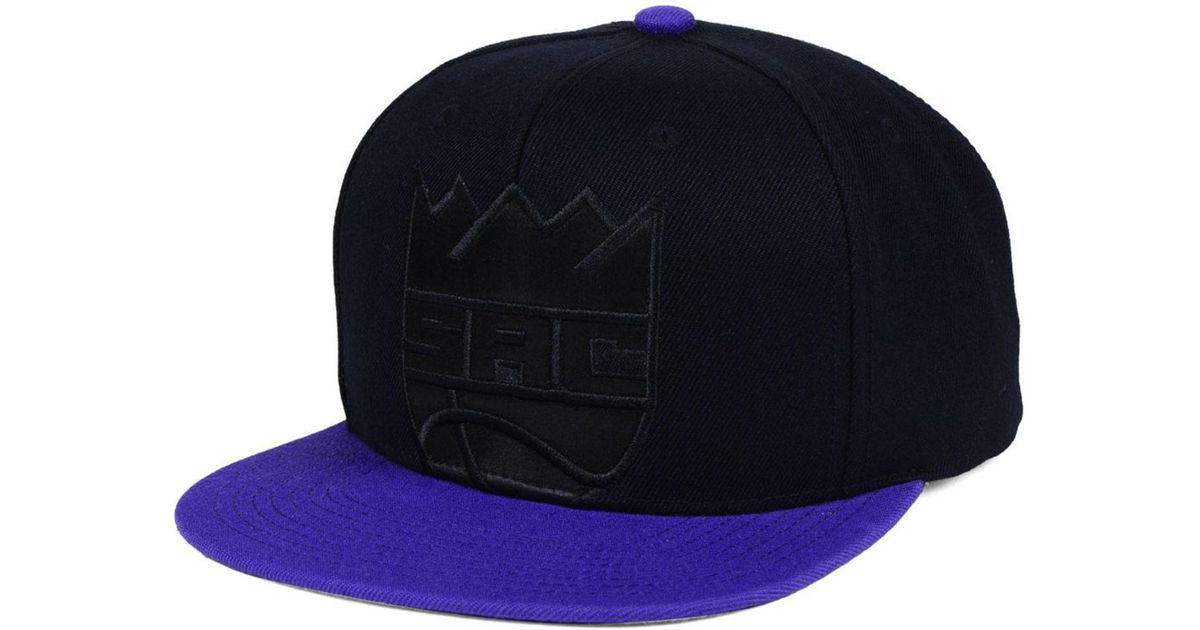new concept 8a5fa 51991 ... switzerland lyst mitchell ness sacramento kings cropped satin snapback  cap for men 0115b a635c