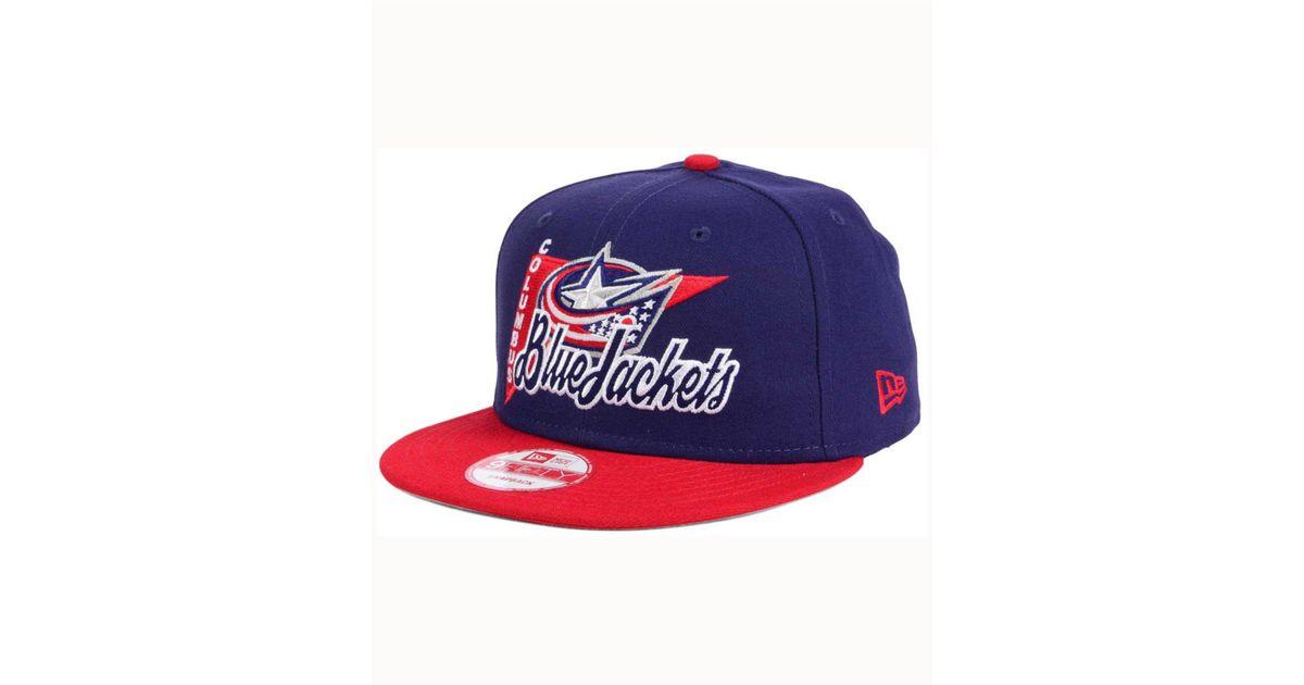 19fed5107 KTZ - Columbus Blue Jackets Logo Stacker 9fifty Snapback Cap for Men - Lyst
