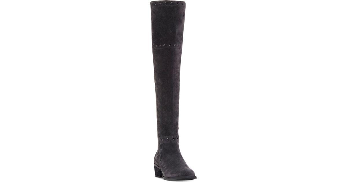 9d5121583b9 Lyst - Vince Camuto Bestan Grommet Over-the-knee Boots in Black