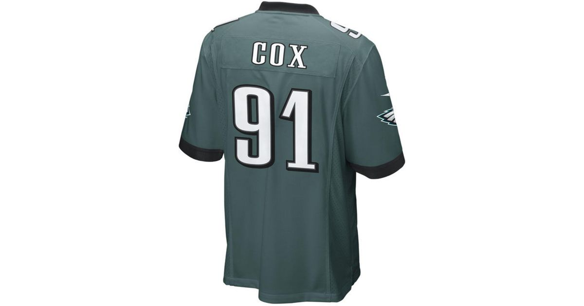 separation shoes 0f823 4e207 Nike Green Fletcher Cox Philadelphia Eagles Game Jersey for men