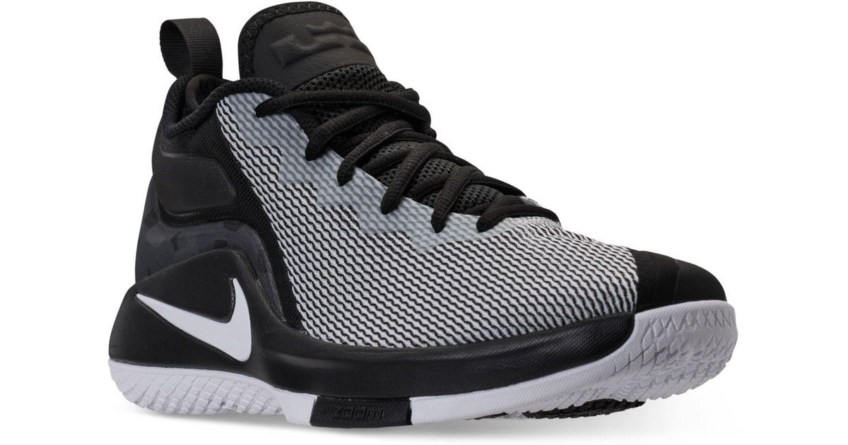 ceedd524da4 ... shoes c0981 6c2b0 closeout lyst nike mens lebron witness ii basketball  sneakers from finish line in black for men ...