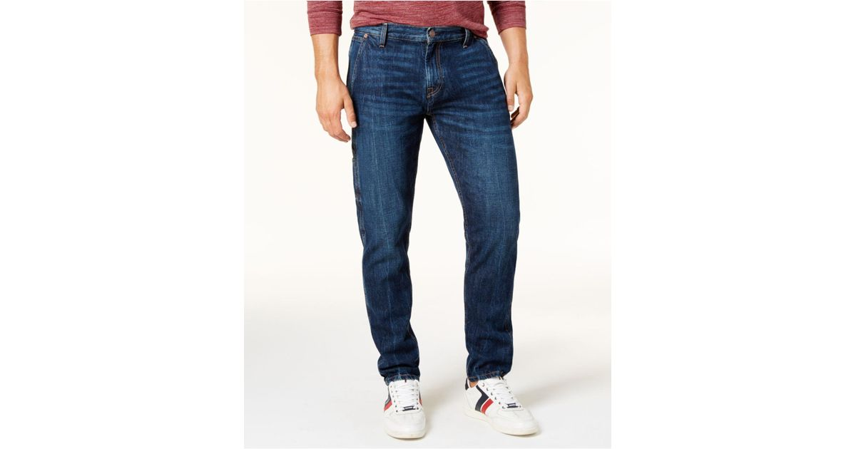 Lyst - Tommy Hilfiger Men s Relaxed Tapered Carpenter Jeans in Blue for Men 2c2a77739e
