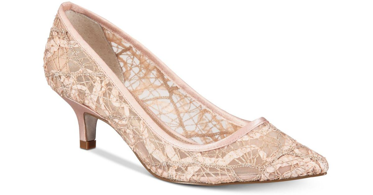 a765b0c21d5 Lyst - Adrianna Papell Lois Lace Evening Pumps in Pink