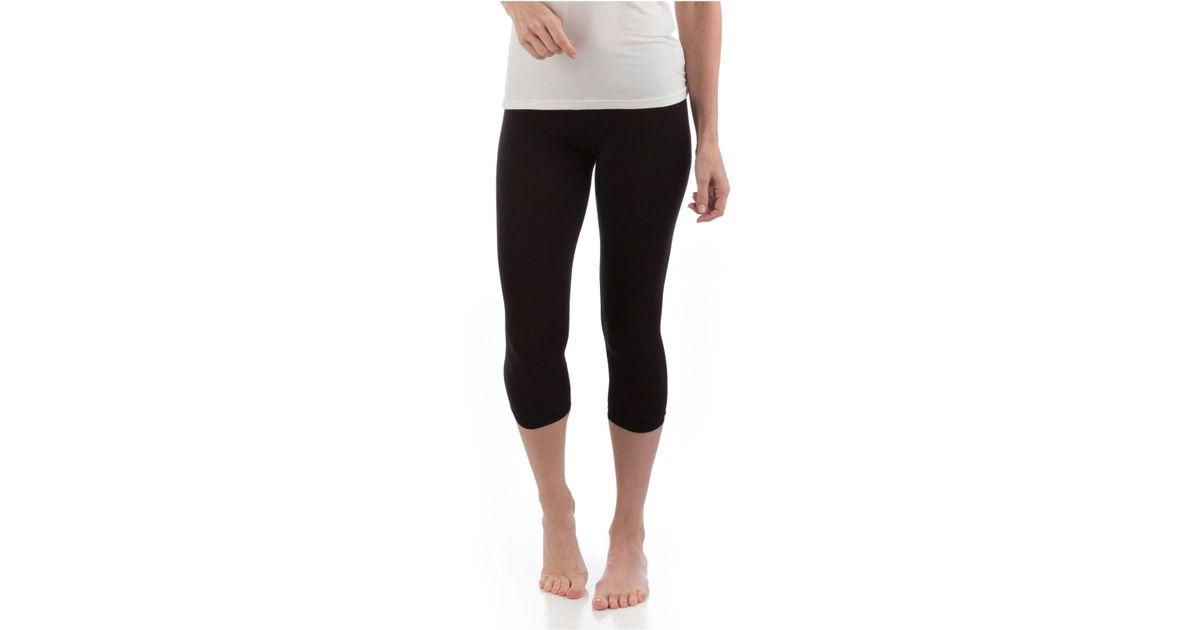 4efa060483df71 Lyst - Yala Designs Bliss Cropped Legging in Black