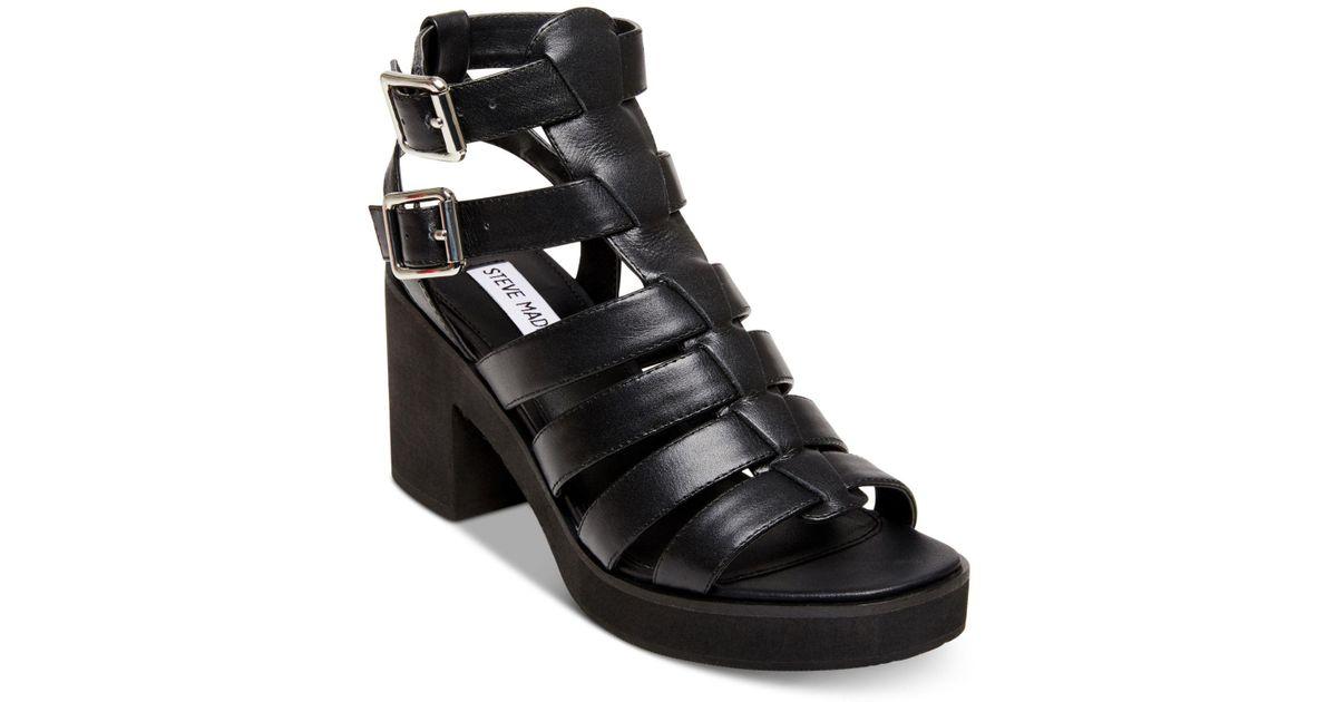 Steve Madden Women's Clue Platform Gladiator Sandals 68RgZdNA