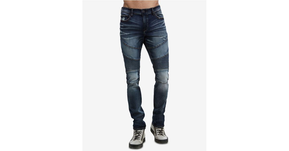 5f28ad10 Lyst - True Religion Rocco Moto Jeans in Blue for Men