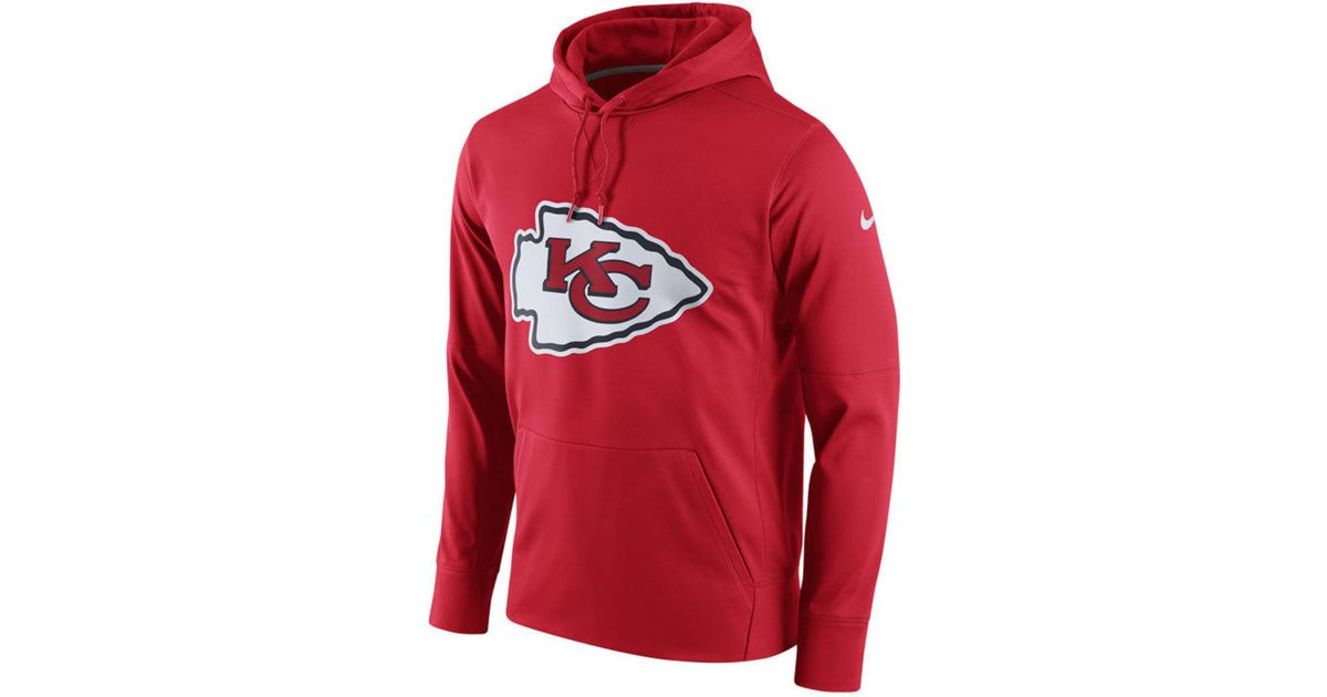 71f24e9fde93 Lyst - Nike Kansas City Chiefs Performance Circuit Logo Essential Hoodie in  White for Men
