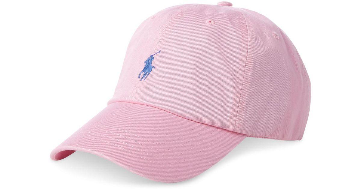 53c36d6bdbfa25 Lyst - Polo Ralph Lauren Cotton Chino Baseball Cap in Pink