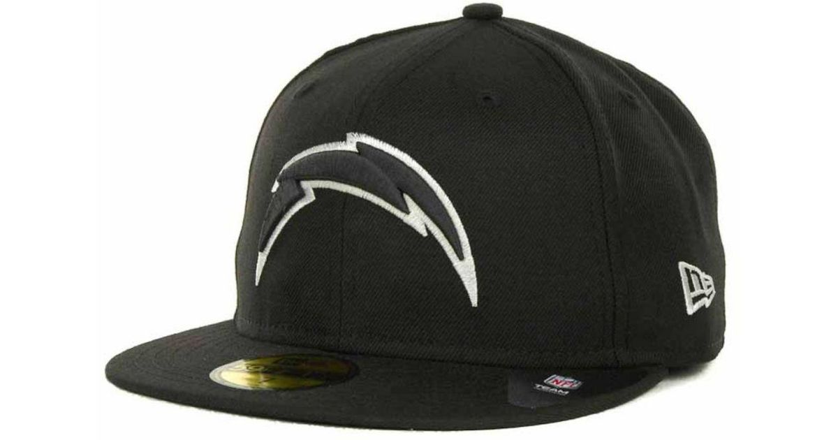 6ffa83e0e ... hats snapbacks fansedge 0a680 b97be; new zealand lyst ktz san diego  chargers 59fifty cap in black for men a8e9a a2bf4