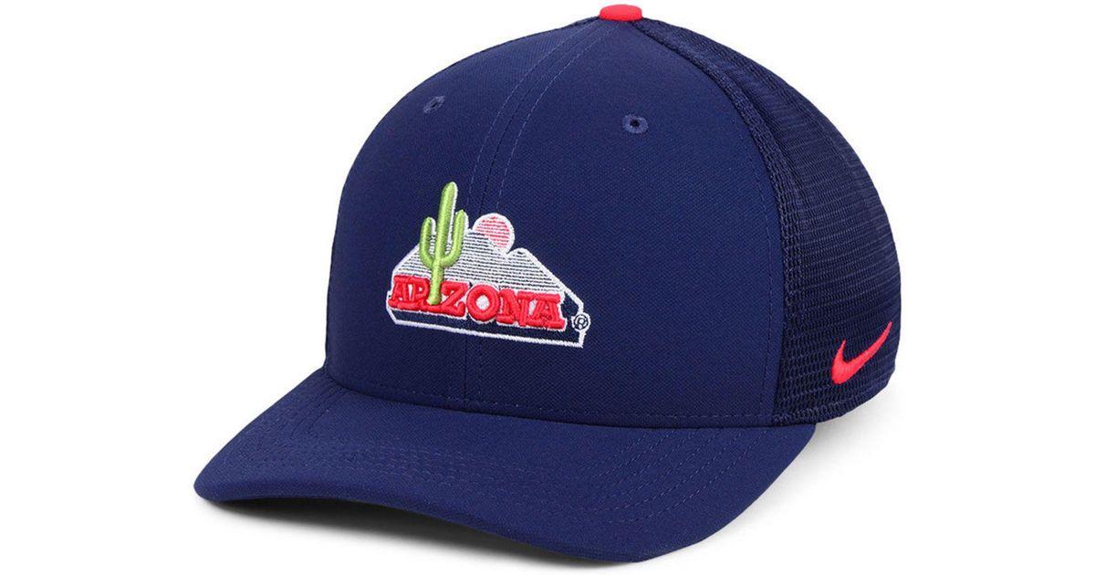 cfe278270b283 ... where to buy lyst nike arizona wildcats col aro swooshflex cap in blue  for men bdbdf