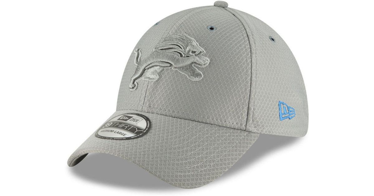 reputable site cc60e 05654 KTZ Detroit Lions Official Color Rush 39thirty Stretch Fitted Cap in Gray  for Men - Lyst