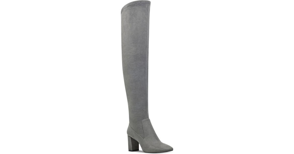 e4ae4a46961a Lyst - Nine West Xperian Over-the-knee Boots in Gray