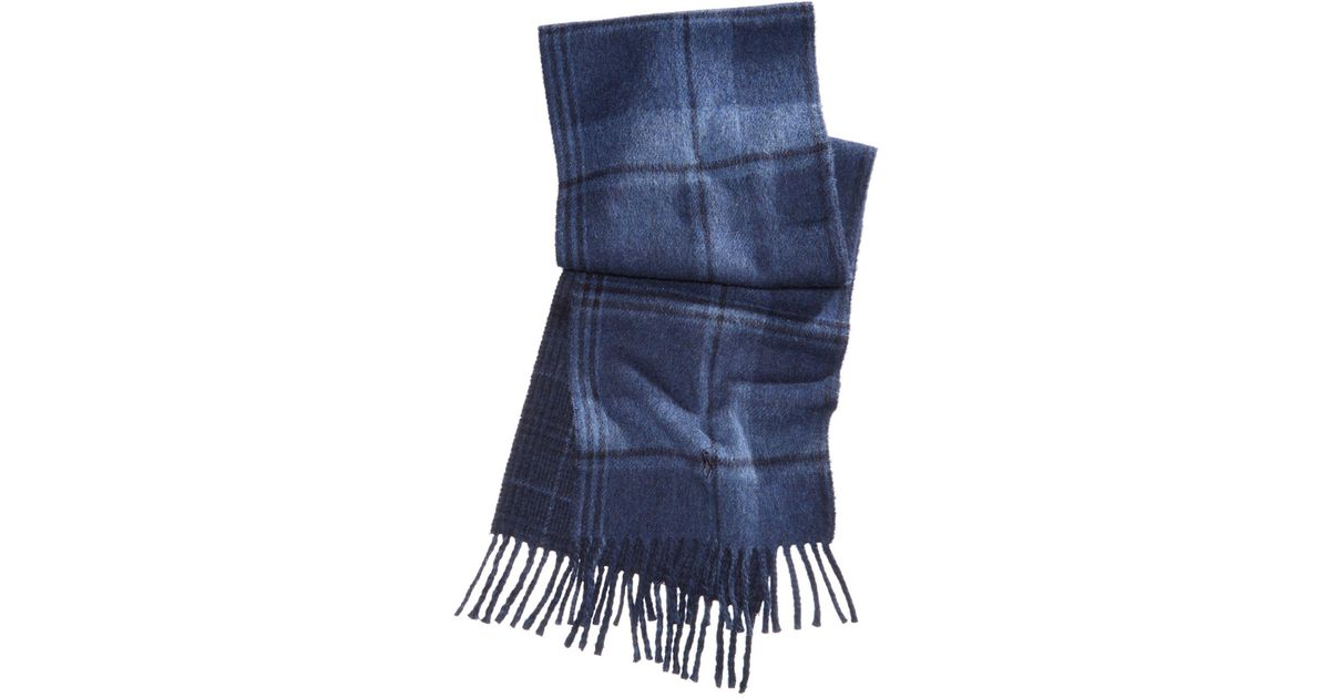31a521e12b8 ... cheapest lyst polo ralph lauren mens reversible stable plaid scarf in  blue for men cd965 0ec2e