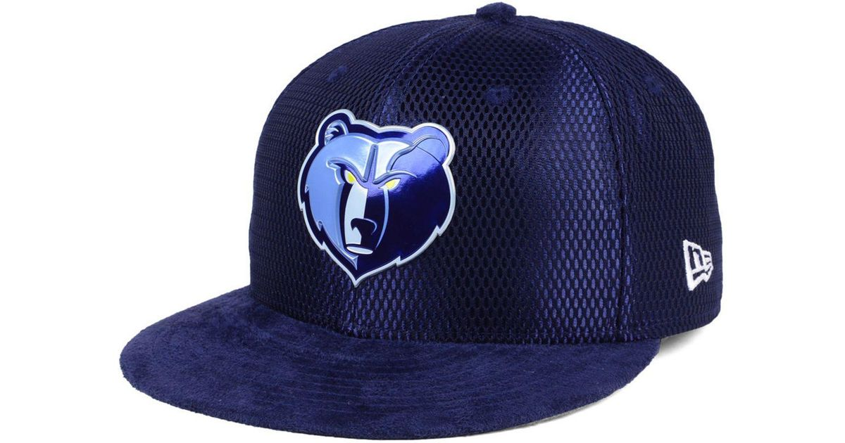 newest c3347 42cea Lyst - KTZ Memphis Grizzlies On-court Collection Draft 59fifty Fitted Cap  in Blue for Men