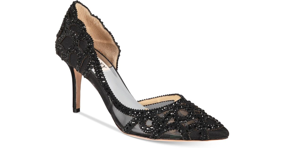 da13014e8da Lyst - Badgley Mischka Marissa Embellished Evening Pumps in Black