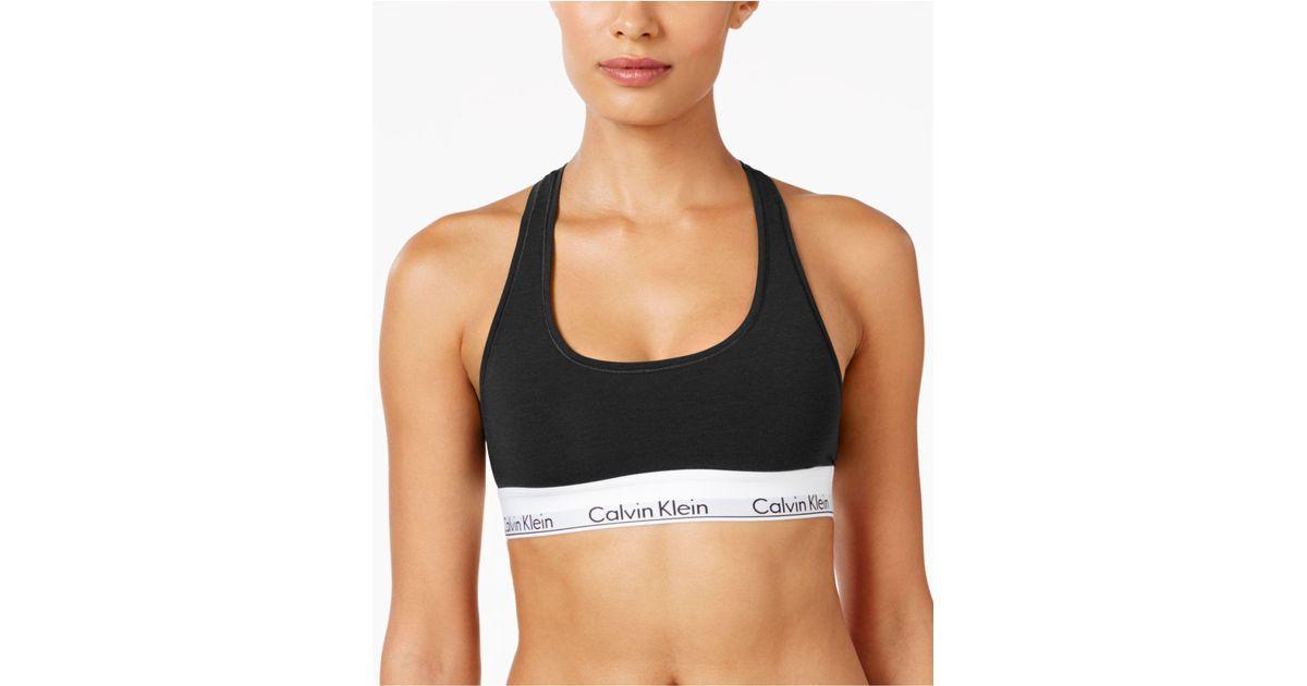 188c452b7a299 Lyst - Calvin Klein Modern Cotton Bralette F3785 in Black