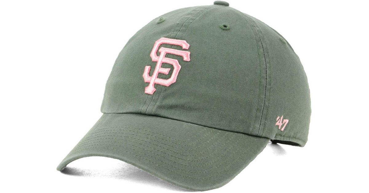 newest 7b425 00085 ... netherlands lyst 47 brand san francisco giants moss pink clean up cap  in green for men