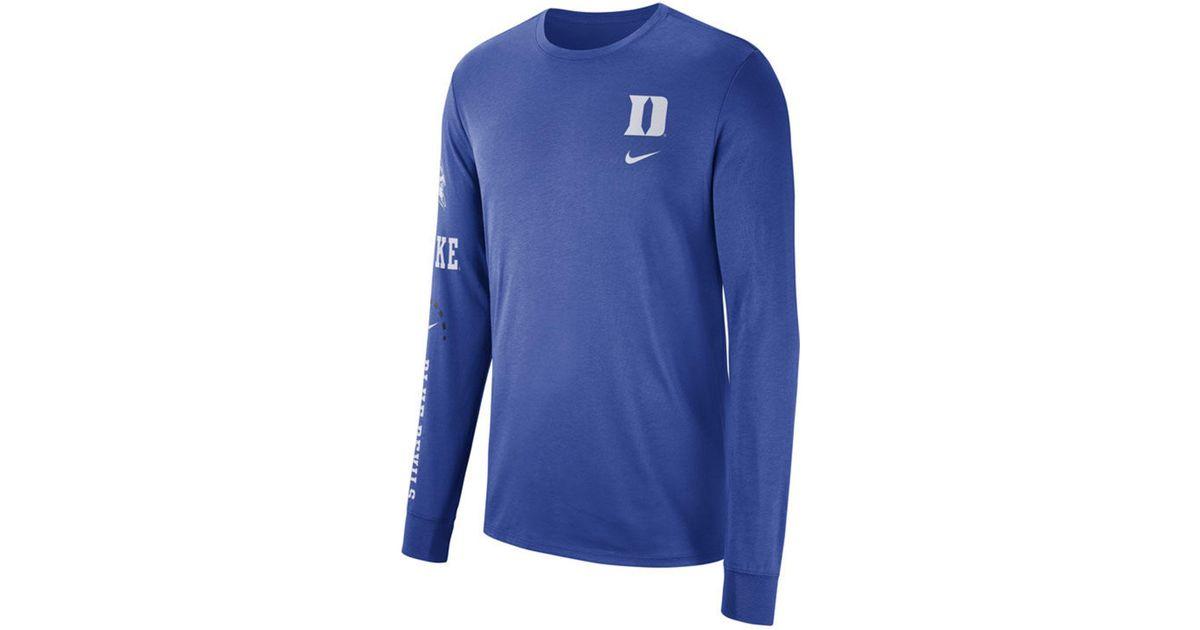 f59ac5b8 Lyst - Nike Duke Blue Devils Long Sleeve Basketball T-shirt in Blue for Men