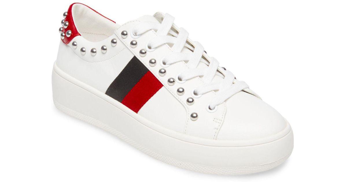 Belle Webbed Fur Sneakers RiJ0c