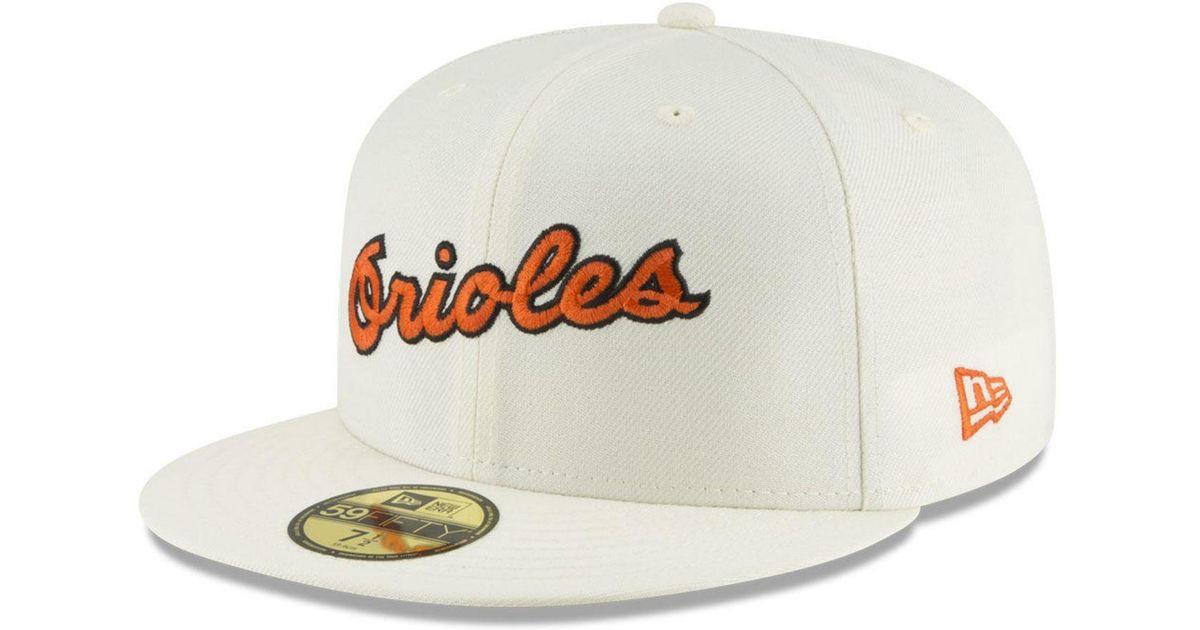 designer fashion c8354 e16a7 KTZ Baltimore Orioles Vintage World Series Patch 59fifty Cap in White for  Men - Lyst