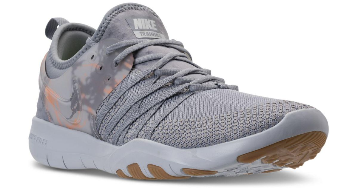 Lyst - Nike Women s Free Tr 7 Training Sneakers From Finish Line in Gray bfd8ae033