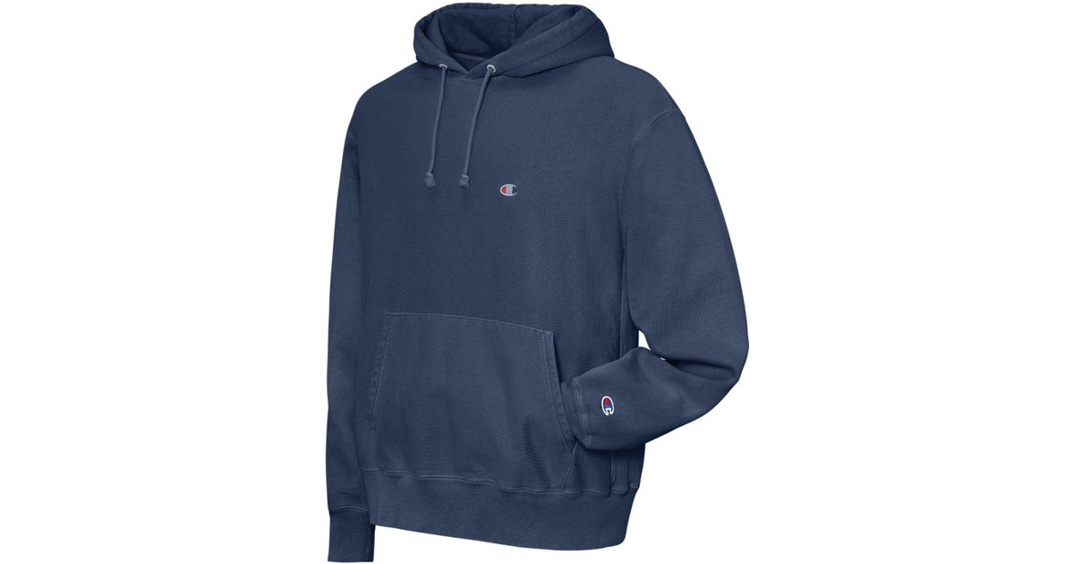 a6fe5126c31f59 Lyst - Champion Garment-dyed Reverse Weave® Hoodie in Blue for Men