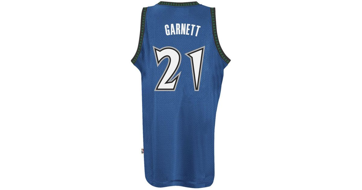 more photos 125d3 cd6f5 Adidas - Blue Kevin Garnett Minnesota Timberwolves Retired Player Swingman  Jersey for Men - Lyst