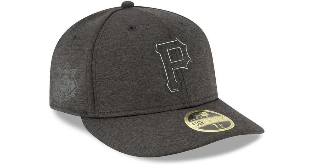 sports shoes 0a15a 1ac78 ... reduced lyst ktz pittsburgh pirates clubhouse low crown 59fifty fitted  cap in black for men 31fd5