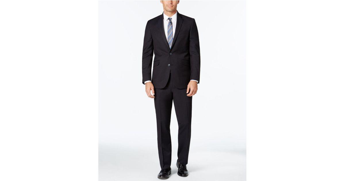 Lyst - Kenneth Cole Reaction Men s Slim-fit Black And Blue Pindot Suit in  Blue for Men 501d00a94