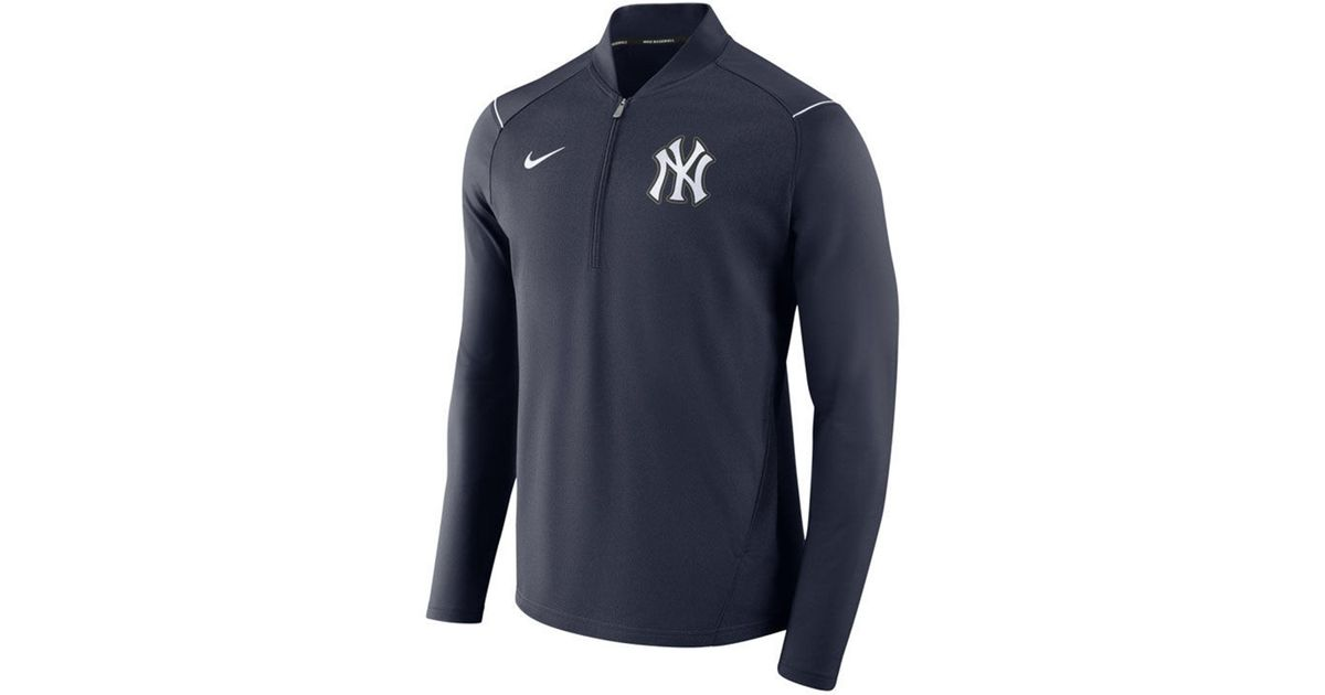 bb44c62a10c9 Lyst - Nike New York Yankees Dry Elite Half-zip Pullover in Blue for Men