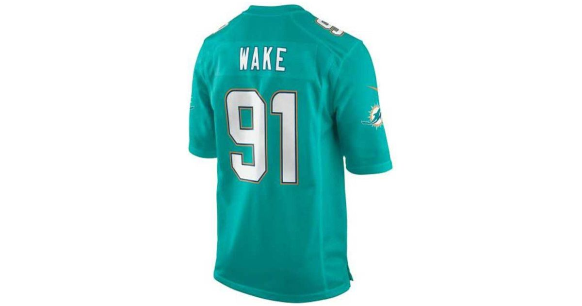 sale retailer d2135 1d748 Nike - Blue Men's Cameron Wake Miami Dolphins Game Jersey for Men - Lyst