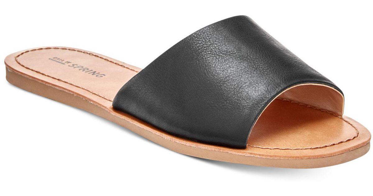 90d84765c Lyst - Call It Spring Thirenia Slide Sandals in Black