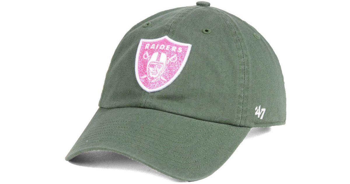 quality design 6c886 9afa0 Lyst - 47 Brand Oakland Raiders Moss Glitta Clean Up Cap in Green