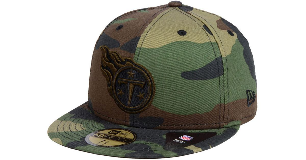 8305b6fca Lyst - KTZ Tennessee Titans Woodland Prism Pack 59fifty-fitted Cap in Green  for Men