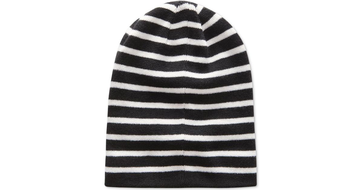 ca41a890988ac Lyst - G-Star RAW Men s Effo Long Stretch Stripe Double-layer Ribbed-knit  Beanie in Black for Men