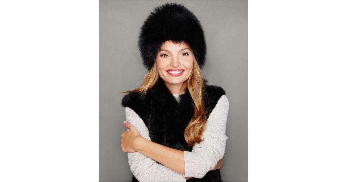 0bb7bf37c98 Lyst - The Fur Vault Fox Fur Hat in Black