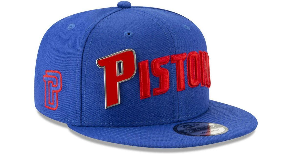 huge selection of 3f7e7 6cdc1 KTZ Detroit Pistons Enamel Script 9fifty Snapback Cap in Blue for Men - Lyst