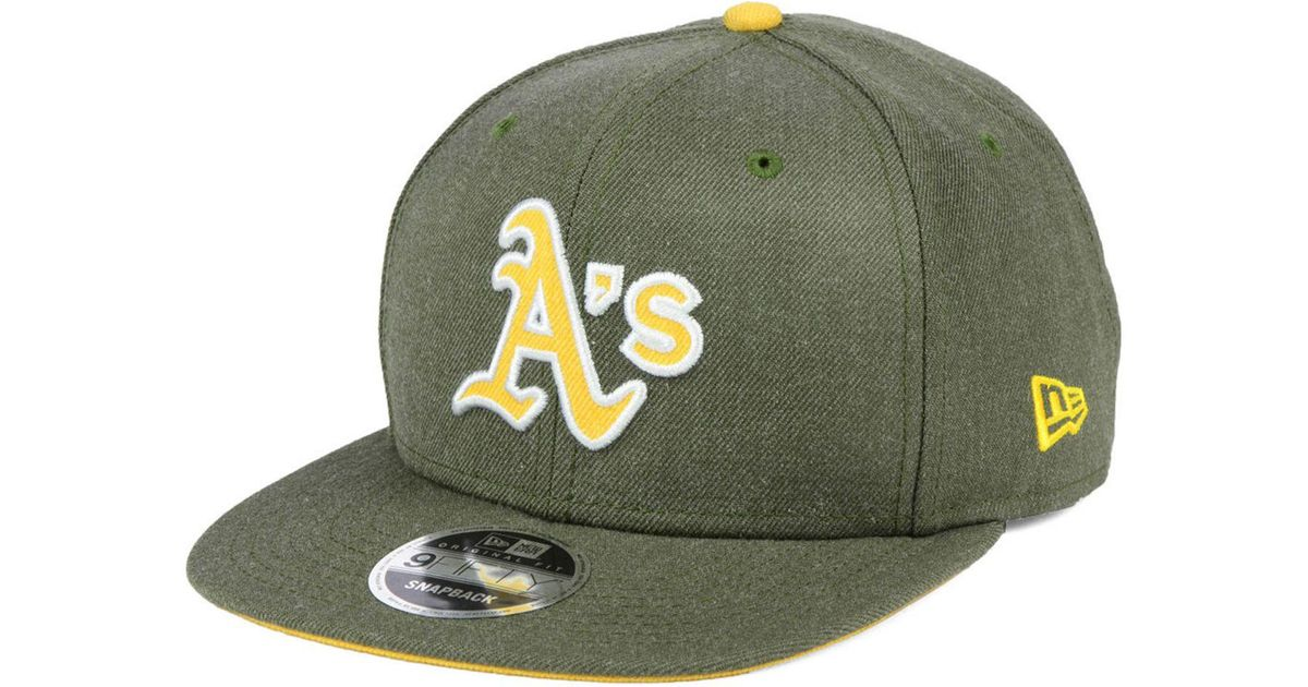 innovative design 0b7be 7b914 ... italy lyst ktz oakland athletics heather hype 9fifty snapback cap in  green for men 2dc3d 61142