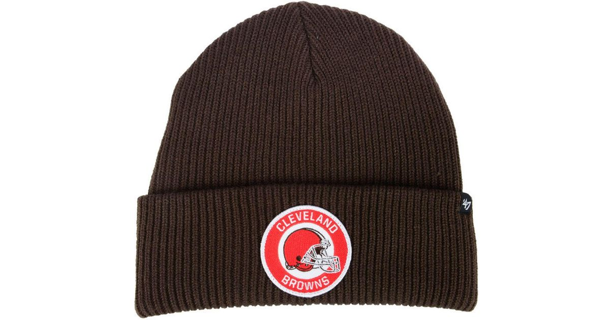 843bcefb3ebaf Lyst - 47 Brand Cleveland Browns Ice Block Cuff Knit Hat in Brown for Men