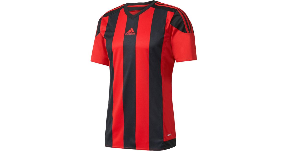 Lyst - adidas Climacool® Striped Soccer Jersey in Red for Men ad701017f