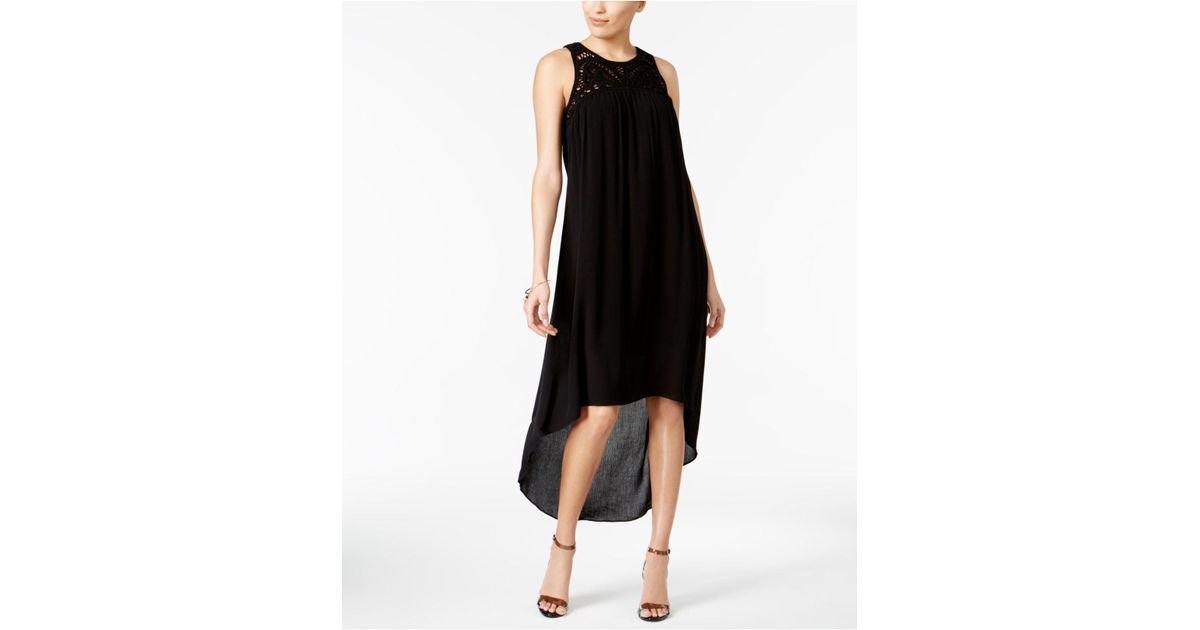 Lyst Cable Gauge High Low Shift Dress In Black