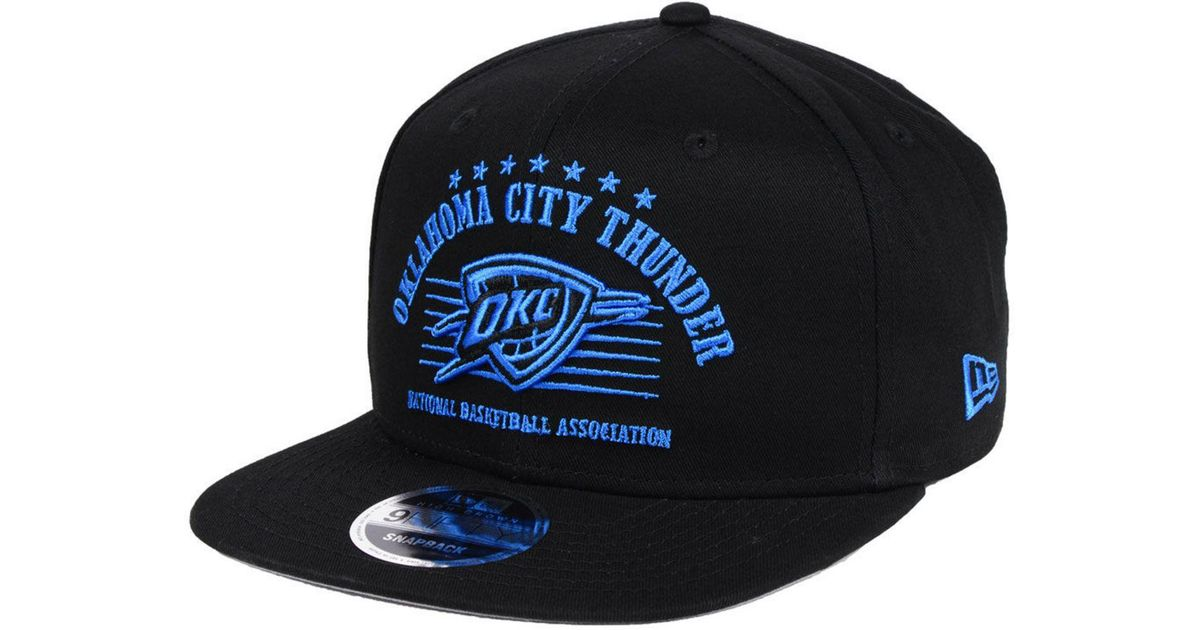 low priced 0b39e e2d9c Lyst - KTZ Oklahoma City Thunder Retro Arch 9fifty Snapback Cap in Black  for Men