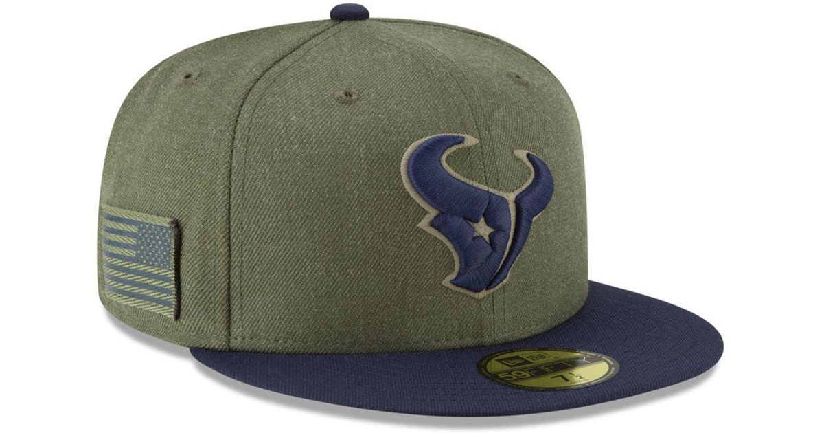 super popular 85b9b 48796 Lyst - KTZ Houston Texans Salute To Service 59fifty Fitted Cap in Green for  Men