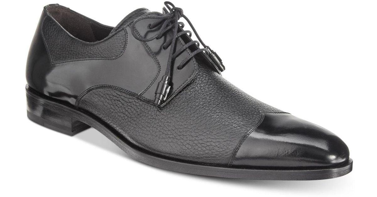 Mezlan Men's Short Wing Patent Blucher Oxfords, Created for Macy's Men's Shoes