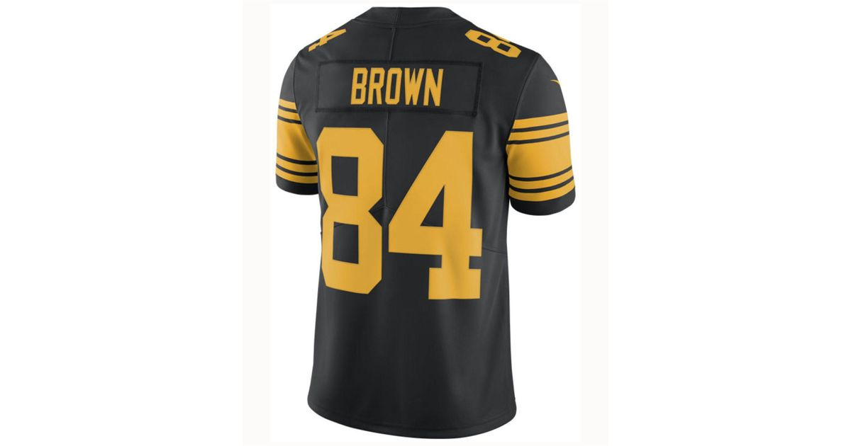 8a7f57502 ... 50% off lyst nike antonio brown pittsburgh steelers limited color rush  jersey in black for