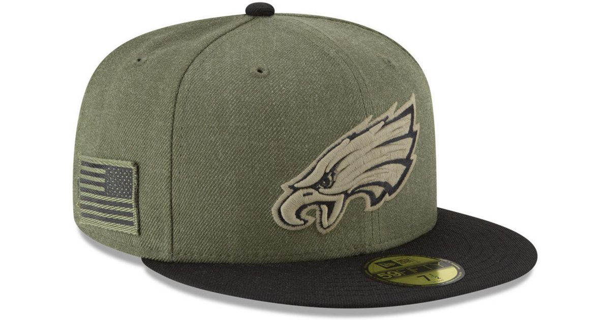 e6ed323d3f7 Lyst - KTZ Philadelphia Eagles Salute To Service 59fifty Fitted Cap in Green  for Men