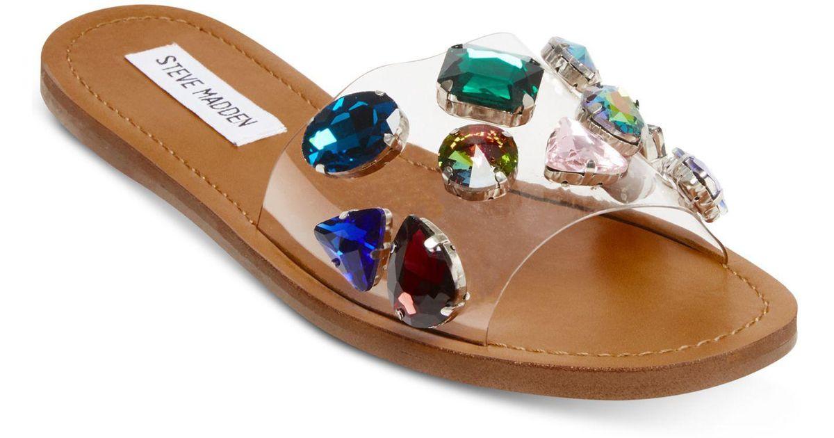 8986a8a5b2e Steve Madden Multicolor Rosalyn Slide Sandals