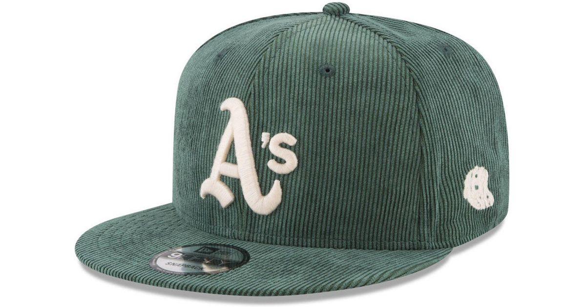 low priced 55e8a f69ed Lyst - KTZ Oakland Athletics All Cooperstown Corduroy 9fifty Snapback Cap  in Green for Men