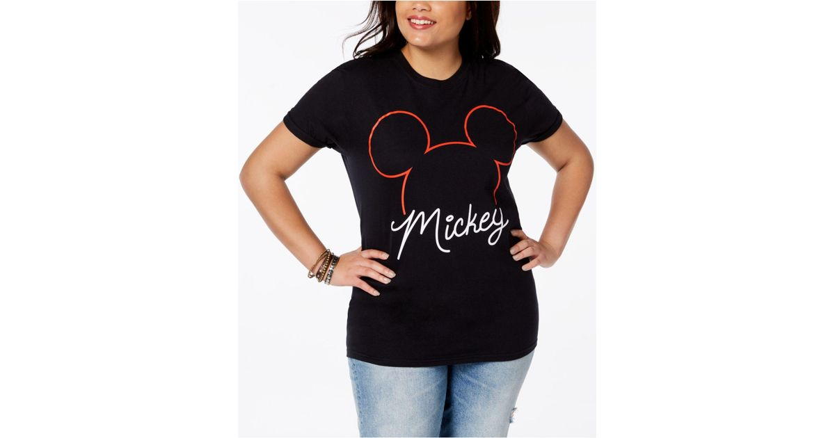 50b84feffd465 Lyst - Disney Plus Size Cotton Mickey Mouse T-shirt in Black